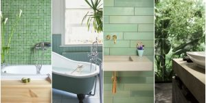 green bathroom styles